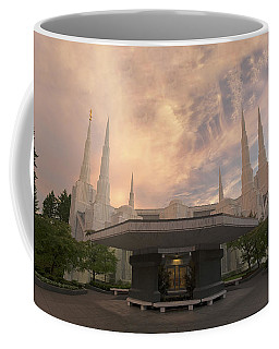 Coffee Mug featuring the photograph Portland Temple by Dustin  LeFevre