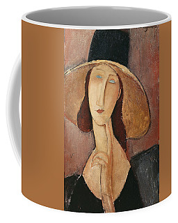Coffee Mug featuring the painting Portrait Of Jeanne Hebuterne In A Large Hat by Celestial Images