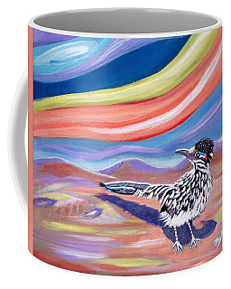 Coffee Mug featuring the painting Posy 2 The Roadrunner by Phyllis Kaltenbach