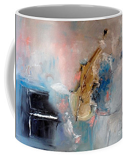 Coffee Mug featuring the painting Practice by Laurie Lundquist