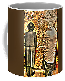 Coffee Mug featuring the photograph Praying At The Western Wall by Doc Braham