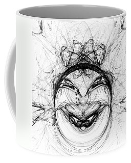 Coffee Mug featuring the digital art Queen Of Hearts by Jane McIlroy