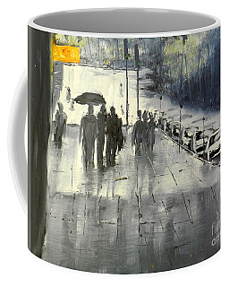 Rainy City Street Coffee Mug