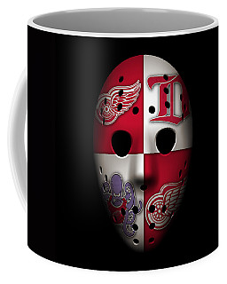 Red Wings Goalie Mask Coffee Mug