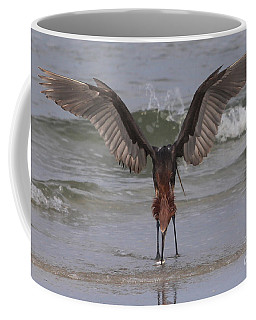 Reddish Egret Fishing Coffee Mug