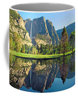Reflections Of Yosemite Falls Coffee Mug