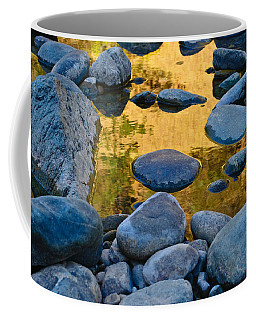 Coffee Mug featuring the photograph River Of Gold 2 by Sherri Meyer