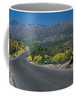 Road Passing Through A Landscape Coffee Mug