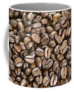 Coffee Mug featuring the photograph Roasted Coffee Beans by Lee Avison