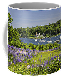 Round Pond Lupine Flowers On The Coast Of Maine Coffee Mug