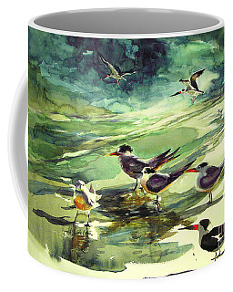 Royal Terns And Black Skimmers Coffee Mug