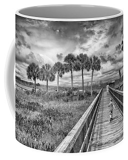 Coffee Mug featuring the photograph Running by Howard Salmon