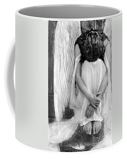 Sad Angel Woman Coffee Mug by Jill Battaglia