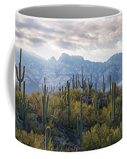 Saguaro Cactus With Mountain Range Coffee Mug