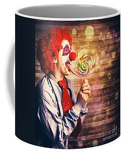 Scary Circus Clown At Horror Birthday Party Coffee Mug