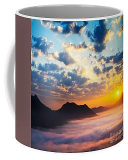 Sea Of Clouds On Sunrise With Ray Lighting Coffee Mug