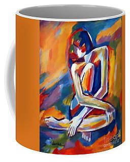 Seated Figure Coffee Mug by Helena Wierzbicki