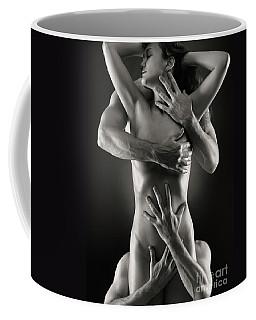 Sensual Photo Of Male Hands Embracing A Woman Coffee Mug