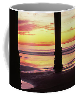 Silhouette Of A Pier In The Pacific Coffee Mug