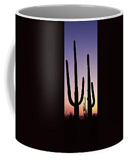 Silhouette Of Saguaro Cacti Carnegiea Coffee Mug
