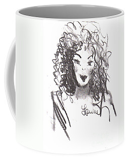 Coffee Mug featuring the drawing Simply Red by Laurie L
