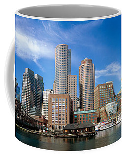 Skyscrapers At The Waterfront, Boston Coffee Mug