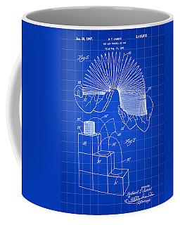 Slinky Patent 1946 - Blue Coffee Mug by Stephen Younts