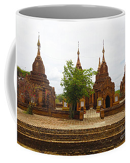 Coffee Mug featuring the photograph Smaller Temples Next To Dhammayazika Pagoda Built In 1196 By King Narapatisithu Bagan Burma by Ralph A  Ledergerber-Photography