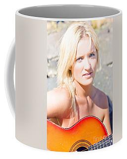 Smiling Female Guitarist Coffee Mug