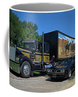 Smokey And The Bandit Tribute 1973 Kenworth Semi Truck And The Bandit Coffee Mug by Tim McCullough