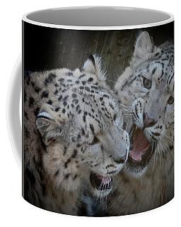Snow Leopard Cubs Coffee Mug
