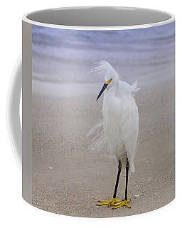 Snowy Egret At The Beach Coffee Mug