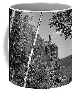 Split Rock Black And White Coffee Mug