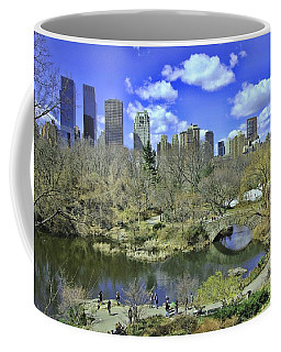Springtime In Central Park Coffee Mug by Allen Beatty
