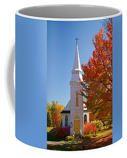 Coffee Mug featuring the photograph St Matthew's In Autumn Splendor by Jeff Folger