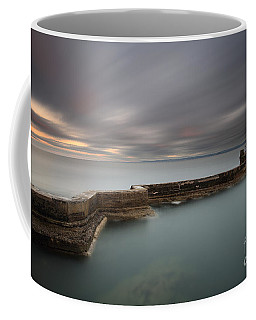 Coffee Mug featuring the photograph St Monans Pier At Sunset by Maria Gaellman
