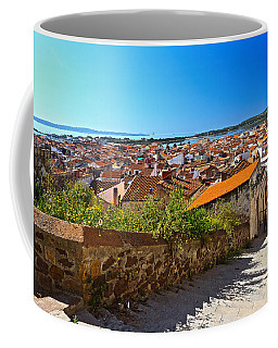 stairway and ancient walls in Carloforte Coffee Mug by Antonio Scarpi
