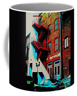 Coffee Mug featuring the photograph Stairway Edited by Kelly Awad