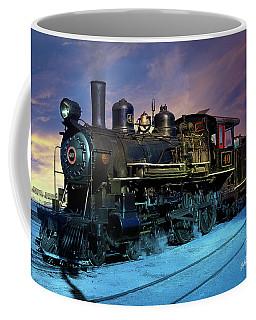 Coffee Mug featuring the photograph Steam Engine Nevada Northern by Gunter Nezhoda