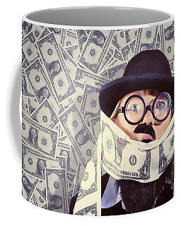 Stressed Business Man Drowning In Financial Debt Coffee Mug