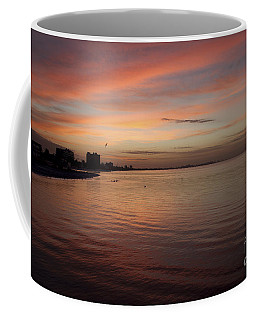 Coffee Mug featuring the photograph Sunrise Over Fort Myers Beach Photo by Meg Rousher