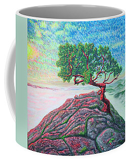 Coffee Mug featuring the painting Sunrise.mountains. by Viktor Lazarev