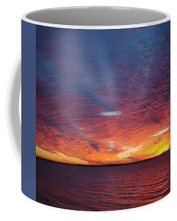 Sunset At Cafe Coconut Cove 5 Coffee Mug by Kay Gilley