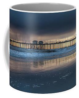 Approaching Storm Huntington Beach Pier Coffee Mug
