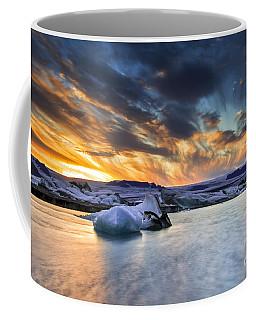 sunset at Jokulsarlon iceland Coffee Mug