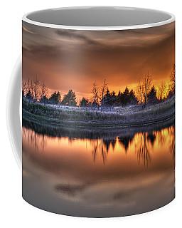 Sunset Over Bryzn Coffee Mug by Art Whitton