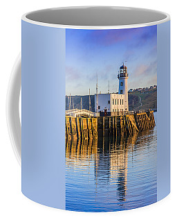Coffee Mug featuring the photograph Sunset Over Scarborough Lighthouse by Susan Leonard
