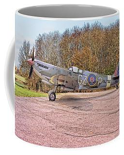 Coffee Mug featuring the digital art Supermarine Spitfire Hf Mk. Ixe Mj730 by Paul Gulliver