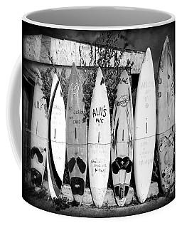 Surf Board Fence Maui Hawaii Coffee Mug