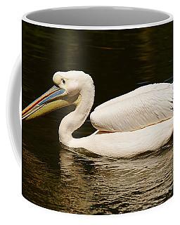 Swimming Pink Pelican Coffee Mug